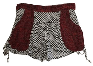 Free People Tribal Elastic Mini/Short Shorts