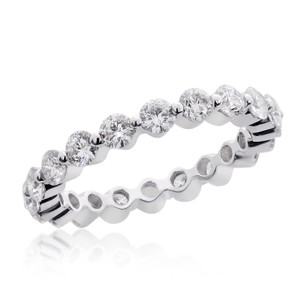 Avital & Co Jewelry 18k White Gold Thin Round Brilliant Cut Diamond Eternity Wedding Band (2.05 Tcw G Si-2)