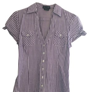 Cotton Express Top Purple and white