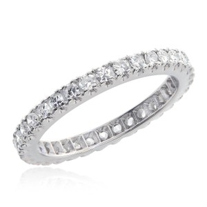 Avital & Co Jewelry 0.75 Carat H Vs-2 Antique Platinum Round Brilliant Cut Diamond Eternity Band