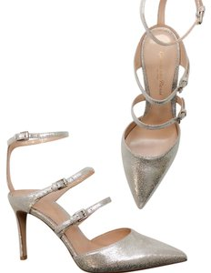 Gianvito Rossi Silver nude Formal
