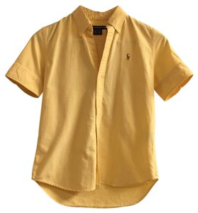 Ralph Lauren Polo Preppy Slim-fit Collar Button Down Shirt Yellow