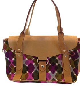 Miu Miu Satchel in TAN AND MULTICOLOR