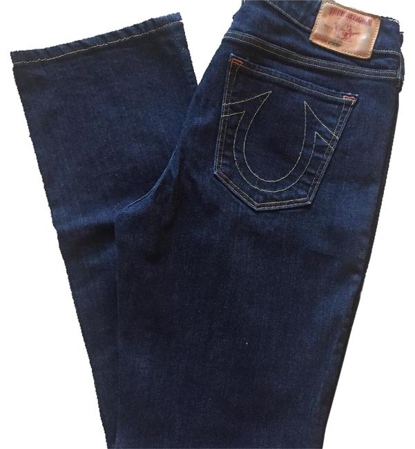 True Religion Dark Designer Gifts For Her Spring Straight Leg Jeans Image 0
