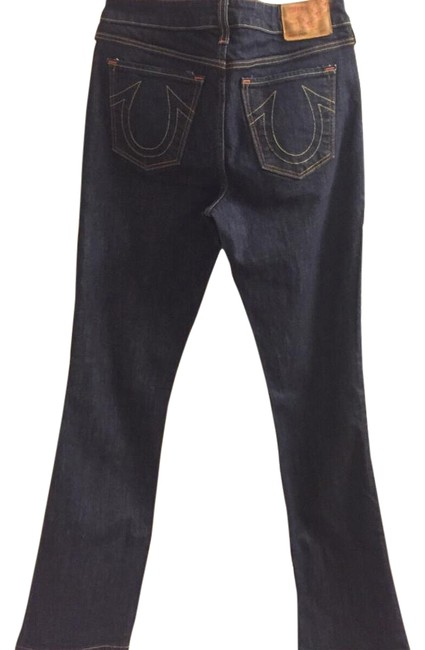 True Religion Dark Designer Gifts For Her Spring Straight Leg Jeans Image 1