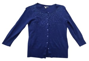 Halogen Sweater Sparkles Sequins Sequined Sequined Sweater Holiday Sweater Holiday Sequins Three Quarter Xs Cardigan
