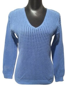 Jeanne Pierre V-neck Open Weave Sweater