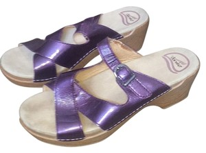 Dansko Purple Mules