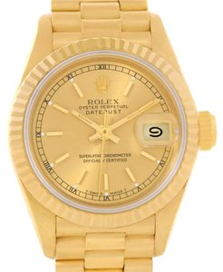 Rolex Rolex President Datejust Ladies 18K Yellow Gold Index Dial Watch 69178
