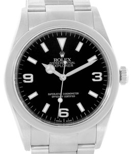Rolex Rolex Explorer I Black Dial Stainless Steel Mens Watch 114270 Year 2004