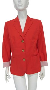 Elie Tahari Reese Blazer Jacket Button Down Shirt Coral