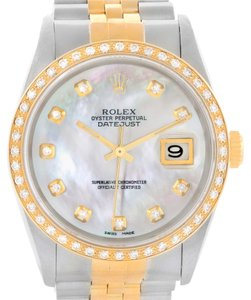 Rolex Rolex Datejust Steel Yellow Gold Diamond Dial Automatic Watch 16233