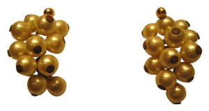 Other Grape Cluster Pearl Earrings; Deep Ivory - [ Roxanne Anjou Closet ]