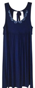 Ann Taylor LOFT short dress Navy Sleeveless on Tradesy