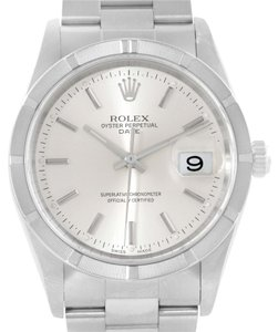 Rolex Rolex Date Stainless Steel Silver Dial Mens Watch 15210