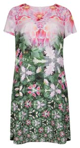 Ted Baker short dress Pink green Floral on Tradesy