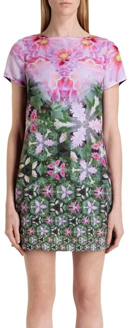 Preload https://img-static.tradesy.com/item/14487814/ted-baker-pink-green-new-tags-floral-summer-tunic-sundress-mini-short-casual-dress-size-2-xs-0-3-650-650.jpg