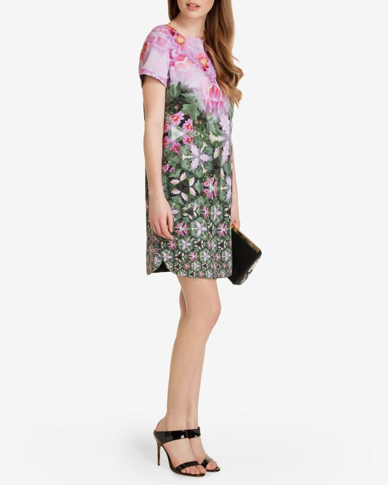 9aeba0346055 Ted Baker short dress Pink green Floral Sundress Summer Tunic on Tradesy  Image 6. 1234567