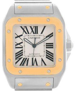 Cartier Cartier Santos 100 XL Steel Yellow Gold Watch W200728G Box Papers