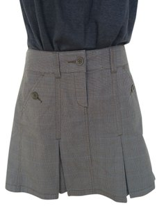 Esprit Tweed Vintage A-line Mini Skirt Brown