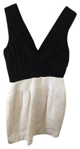 Taylor Colorblock Fit And Flare Colorblock And Black Nordstroms Holiday Party Holiday Black And Formal Black And Ivory Dress