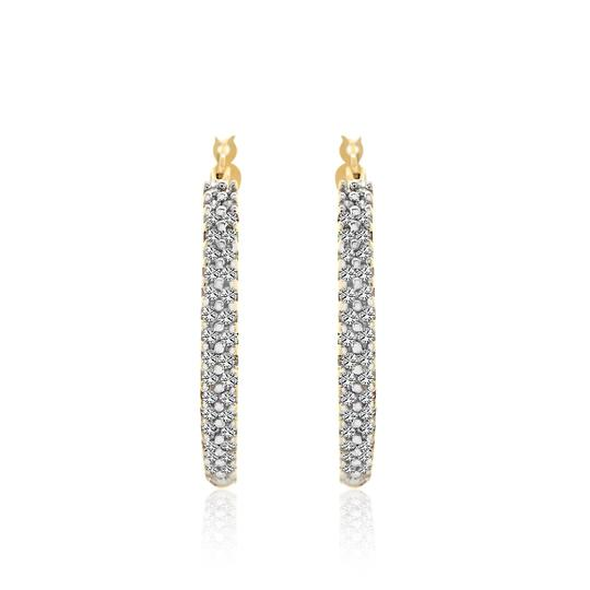 Preload https://img-static.tradesy.com/item/14488312/avital-and-co-jewelry-14k-yellow-gold-100-carat-round-brilliant-cut-diamond-hoop-earrings-0-0-540-540.jpg
