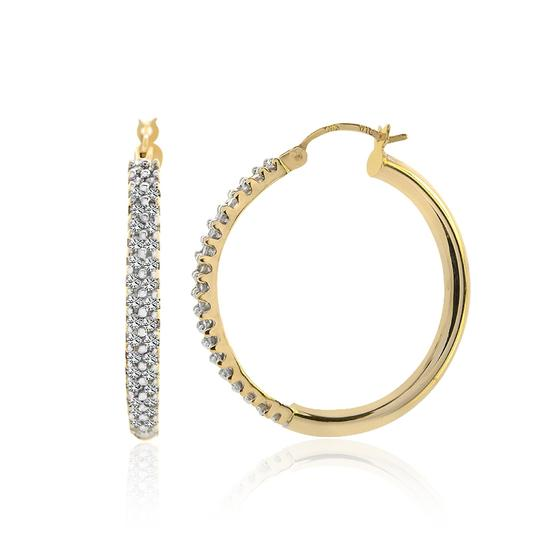 Avital & Co Jewelry 14k Yellow Gold 1.00 Carat Round Brilliant Cut Diamond Hoop Earrings Image 1