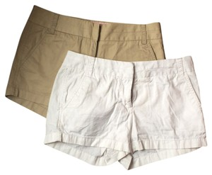 J.Crew Chino Boyfriend Casual Bermuda Shorts White and khaki