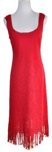 Nanette Lepore short dress Red Knitted on Tradesy