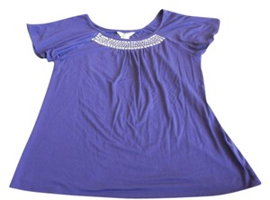 Michael Kors Embellished T Shirt Purple