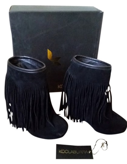 0a8ee18c014 Koolaburra Black Veleta Ii Fringe Wedge Boots/Booties Size US 7 Regular (M,  B) 62% off retail