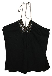 Self Esteem Beaded black Halter Top