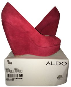 Aldo Suede Retro Red Wedges