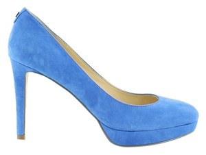 Ivanka Trump Heels Suede Blue Pumps