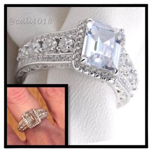 Other New Mega Sparkle Sterling Silver 2.52TCW AAA CZ & White Topaz Ring Sz 9