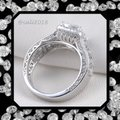 Other New Mega Sparkle Sterling Silver 2.52TCW AAA CZ & White Topaz Ring Sz 9 Image 1