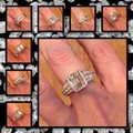 Other New Mega Sparkle Sterling Silver 2.52TCW AAA CZ & White Topaz Ring Sz 9 Image 3