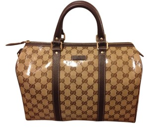 Gucci Boston Crystal Joy Tote in Brown
