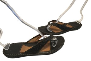 Børn Thong All Leather Upper Whipstitching Brown leather Sandals