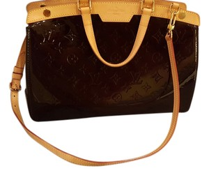 Louis Vuitton Patent Leather Tote in Rouge Fauviste