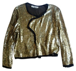 Chloé Chloe Sequin Sequin Gold Jacket