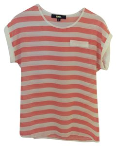 Other Top Coral and White Stripes