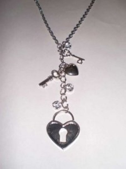 Body Central Long silver chain w/charms necklace