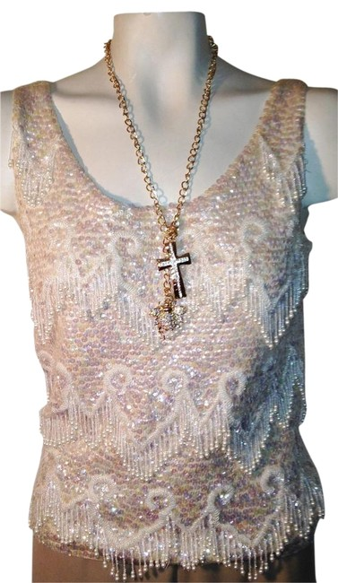 Other Vintage Sleeveless Embellished Hand Made Sweater Image 1