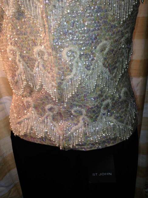 Other Vintage Sleeveless Embellished Hand Made Sweater Image 3