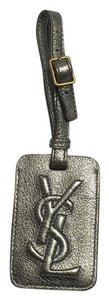 Saint Laurent Saint Laurent YSL metallic luggage tag