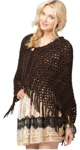 Free People Brown Metallic Rectangle Scarf/Shawl
