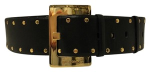 St. John St John Black Leather Belt