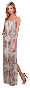 Black & Cream Maxi Dress by Timing Paisley Spaghetti Strap Sheer