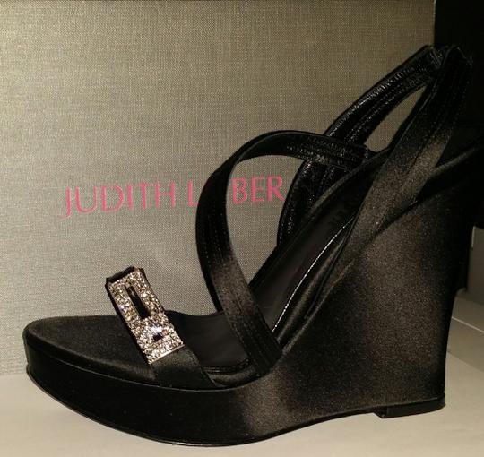 Judith Leiber Black Wedges Image 10